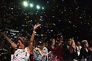 LOS ANGELES, CA - OCTOBER 22, 2016:  <br /> <br /> Confetti falls on the audience as the winners are announced at the Transnation Queen USA 2016 pageant, a transgender beauty pageant held at The Theater at The Ace Hotel in downtown Los Angeles.<br /> <br /> (Melissa Lyttle for The Guardian)