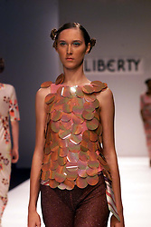 Liberty collection at London Fashion Week Spring/Summer 2001, September 26, 2000..Photo by Andrew Parsons/i-Images.