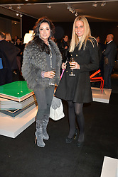 Left to right, NANCY DELL'OLIO and MARIAROSARIA BINETTI at the PAD London 2015 VIP evening held in the PAD Pavilion, Berkeley Square, London on 12th October 2015.