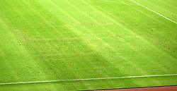 12.06.2015, Stadion Poljud, Split, CRO, UEFA Euro 2016 Qualifikation, Kroatien vs Italien, Gruppe H, im Bild The sign of the Third Reich swastika was drawn on the grass in the Poljud stadium // during the UEFA EURO 2016 qualifier group H match between Croatia and and Italy at the Stadion Poljud in Split, Croatia on 2015/06/12. EXPA Pictures © 2015, PhotoCredit: EXPA/ Pixsell/ Slavko Midzor<br /> <br /> *****ATTENTION - for AUT, SLO, SUI, SWE, ITA, FRA only*****