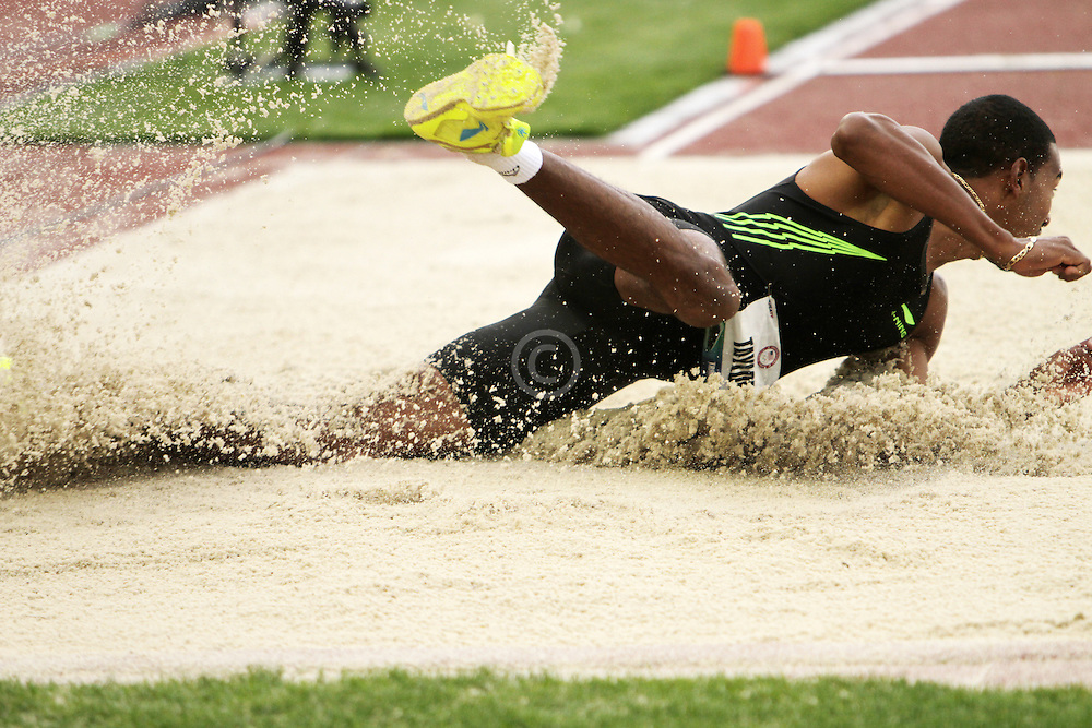 Olympic Trials Eugene 2012: men's long jump, Christian Taylor, makes Olympic team