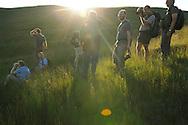 Rewilding Europe local project team meeting, Alpine grasslands in the Tarku mountains Natura 2000 site, Southern Carpathians, Romania, Rewilding Europe site