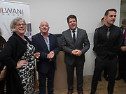 PAUL COSQUIERI; FIRST MINISTER; FABIAN PICARDO;KARL ULLGER  Gibraltar as seen by five artists. private view hosted by the Chief Minister of Gibraltar. Art Bermondsey project Space. 24 October 2017