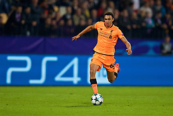MARIBOR, SLOVENIA - Tuesday, October 17, 2017: Liverpool's Trent Alexander-Arnold during the UEFA Champions League Group E match between NK Maribor and Liverpool at the Stadion Ljudski vrt. (Pic by David Rawcliffe/Propaganda)