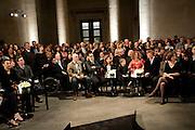 ANGELA DE LA CRUZ; DEXTER DALWOOD, Turner Prize 2010. Tate Britain. Millbank. London. 6 December 2010. -DO NOT ARCHIVE-© Copyright Photograph by Dafydd Jones. 248 Clapham Rd. London SW9 0PZ. Tel 0207 820 0771. www.dafjones.com.
