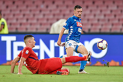 September 15, 2018 - Nikola Milenkovic of ACF Fiorentina challenges Mario Rui of SSC Napoli during the Serie A match between Napoli and Fiorentina at Stadio San Paolo, Naples, Italy on 15 September 2018. Photo by Giuseppe Maffia. (Credit Image: © AFP7 via ZUMA Wire)