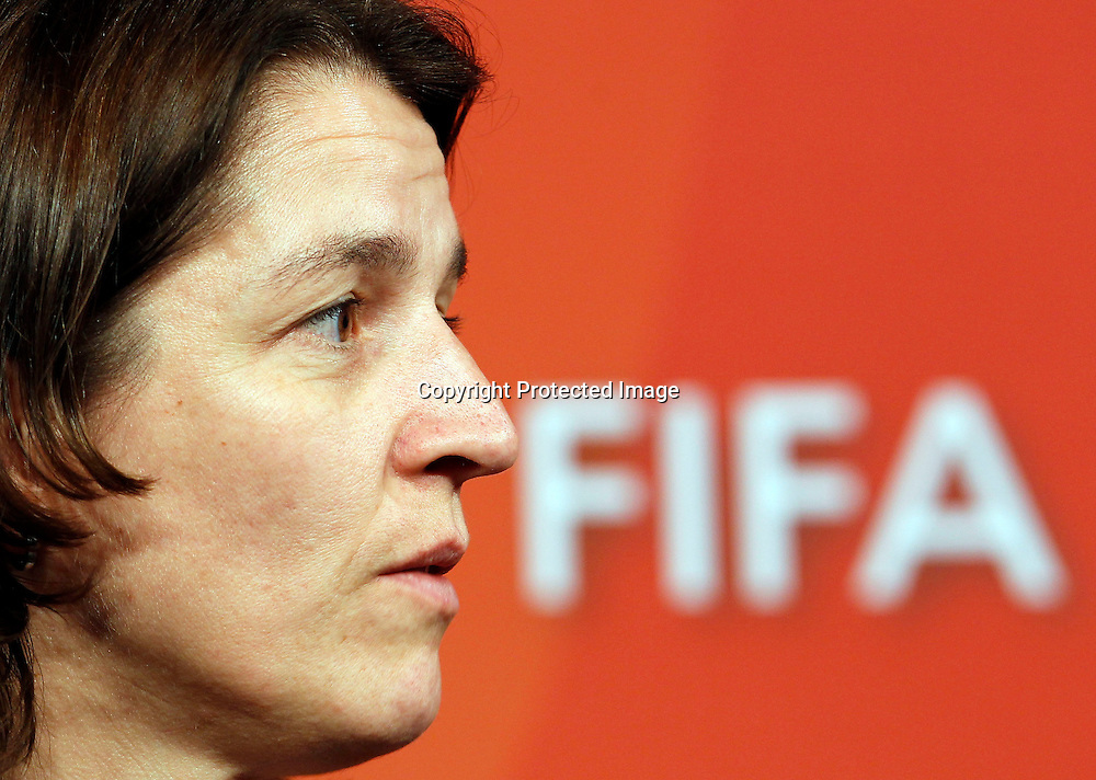 FIFA Head Of Women's Competitions Tatjana Haenni. FIFA Women's World Cup 2011 Official Countdown, Crowne Plaza Hotel, Auckland, Friday 10th December 2010. Photo: Shane Wenzlick