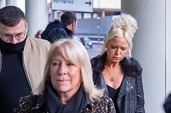 © Licensed to London News Pictures. 20/11/2019. Chelmsford, UK. 'Air rage' passenger Chloe Haines arrives at Chelmsford Magistrates' Court. Haines had to be restrained after allegedly becoming disruptive and making threats on a Jet2 flight from London Stanstead airport to Turkey on 22nd June 2019, two RAF Typhoon fighter jets were scrambled to escort the aircraft back to Stanstead, Haines was subsequently arrested and charged with 'Assault by beating' and 'Recklessly / negligently act in manner likely to endanger aircraft / person in an aircraft'. Photo credit: Peter Manning/LNP
