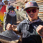 The spanish rider winning the Red Bull Rampage in 2014.