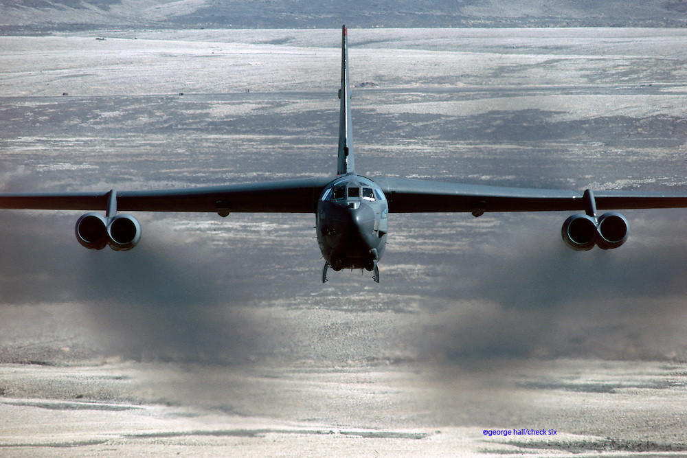 B-52H low-level bomb run