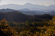 A view of the mountains which make up the numerous Monarch Butterfly Biosphere Reserves in central Mexico in Michoacan State. Each year hundreds of millions Monarch butterflies mass migrate from the U.S. and Canada to Oyamel fir forests in the volcanic highlands of central Mexico. North American monarchs are the only butterflies that make such a massive journey—up to 3,000 miles (4,828 kilometers).