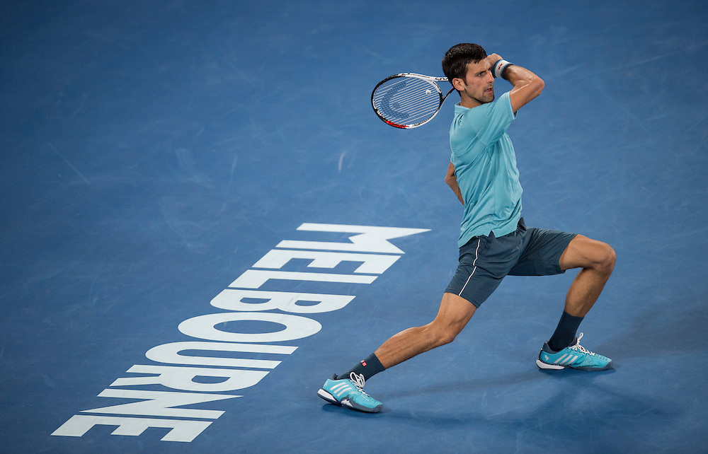 Novak Djokovic of Serbia on day two of the 2017 Australian Open at Melbourne Park on January 17, 2017 in Melbourne, Australia.<br /> (Ben Solomon/Tennis Australia)