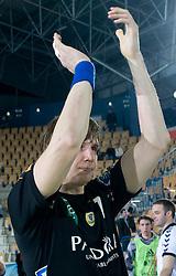 Sergej Harbok (7) after the 1st Main round of EHL Champions League match between RK Celje Pivovarna Lasko (SLO) and Rhein Neckar Lowen (GER), on February 14, 2009, in Arena Zlatorog, Celje, Slovenia. Rhein Neckar Lowen won 34:28.  (Photo by Vid Ponikvar / Sportida)