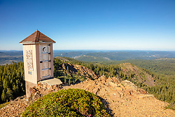 """""""Outhouse in the Tahoe Back Country"""" - Photograph of an outhouse with a great view near Grouse Ridge in the Tahoe area back country."""
