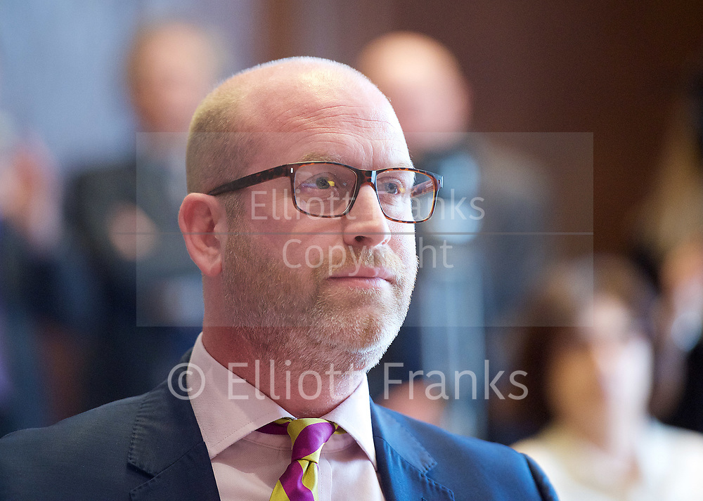 Paul Nuttall MEP <br /> UKIP Leader makes a Brexit speech #SixKeysTests at the Marriott Hotel, London, Great Britain <br /> 27th March 2017 <br /> <br /> Ahead of the Prime Minister triggering Article 50 next week, UKIP Leader Paul Nuttall sets out six key tests by which the country can judge Theresa May's Brexit negotiations in a keynote speech on this coming Monday morning.<br /> <br /> <br />  <br /> Photograph by Elliott Franks <br /> Image licensed to Elliott Franks Photography Services