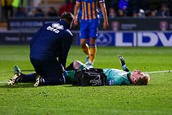 Dean Henderson of Shrewsbury Town receives treatment - Mandatory by-line: Ryan Crockett/JMP - 18/11/2017 - FOOTBALL - Aesseal New York Stadium - Rotherham, England - Rotherham United v Shrewsbury Town - Sky Bet League One
