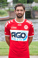 Kortrijk's Benoit Poulian poses for the photographer during the 2014-2015 season photo shoot of Belgian first league soccer team KV Kortrijk, Tuesday 08 July 2014 in Kortrijk.