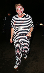 Rob Beckett attends Jonathan Ross' Halloween party in London, UK. 31/10/2015<br /> BYLINE MUST READ : JAMESY/GOTCHA IMAGES<br /> <br /> Copyright by © Gotcha Images Ltd. All rights reserved.<br /> Usage of this image is conditional upon the acceptance <br /> of Gotcha Images Ltd, terms and conditions available at<br /> www.gotchaimages.com