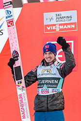18.03.2018, Vikersundbakken, Vikersund, NOR, FIS Weltcup Ski Sprung, Raw Air, Vikersund, Finale, im Bild Andreas Stjernen (NOR, 2. Platz) // 2nd placed Andreas Stjernen of Norway during the 4th Stage of the Raw Air Series of FIS Ski Jumping World Cup at the Vikersundbakken in Vikersund, Norway on 2018/03/18. EXPA Pictures © 2018, PhotoCredit: EXPA/ JFK