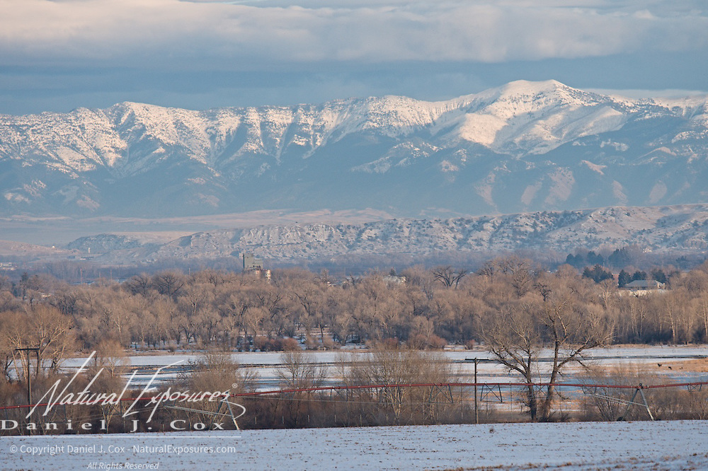 Mission mountains covered in snow. Montana