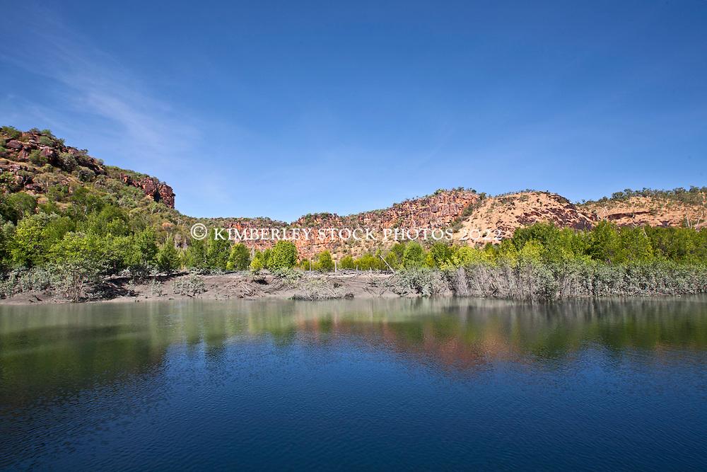 Mudbanks in the Hunter River on the Kimberley coast.