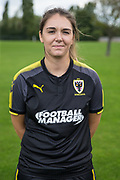 Katie Bigwell during the AFC Wimbledon Photocall 2017 at the Kings Sports Ground, New Malden, United Kingdom on 1 August 2017. Photo by Shane Healey.