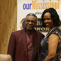 Award-winning actor Keith David poses for a picture with Lynette Suttlar Saturday evening at his meet and greet before the Our Mississippi Honors Gala where he was the special guest