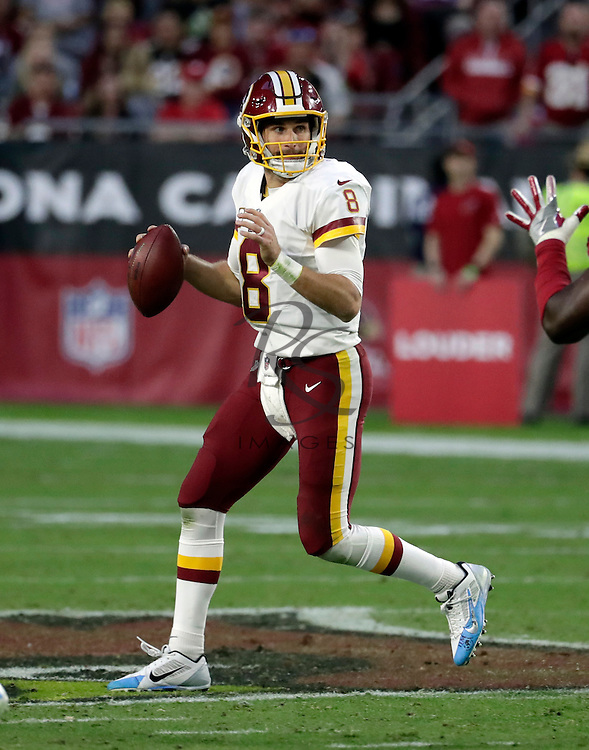 Washington Redskins quarterback Kirk Cousins (8) during an NFL football game against the Arizona Cardinals, Sunday, Dec. 4, 2016, in Glendale, Ariz. (AP Photo/Rick Scuteri)