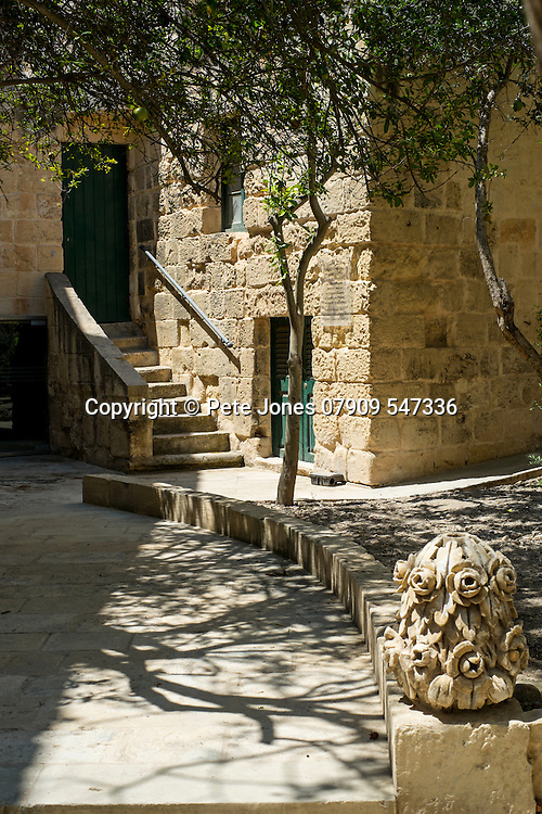Courtyard to cafe in Mdina Rabat,<br />