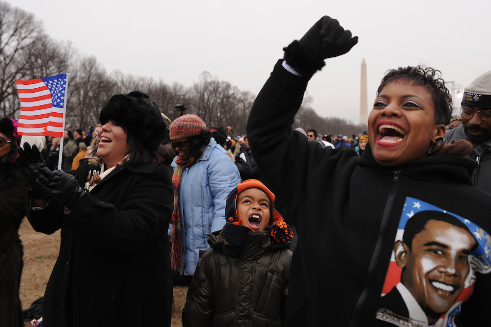 More then a million people gathered in the National Mall in Washington, DC to support the Inauguration of Barack Obama.