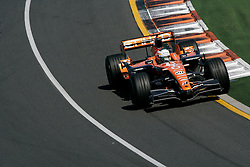 Melbourne. Australia - Sunday, March 18, 2007: Adrian Sutil (GER, Spyker) during the opening Grand Prix of the Formula One World Championship in Australia.(Pic by Michael Kunkel/Propaganda/Hoch Zwei)