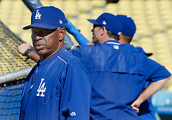 June 27, 2017 - Los Angeles, California, U.S. - Los Angeles Dodgers Manny Mota prior to a Major League baseball game between the Los Angeles Angels and the Los Angeles Dodgers at Dodger Stadium on Tuesday, June 27, 2017 in Los Angeles. (Photo by Keith Birmingham, Pasadena Star-News/SCNG) (Credit Image: © San Gabriel Valley Tribune via ZUMA Wire)