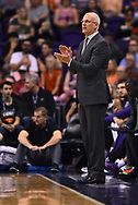 Oct 25, 2017; Phoenix, AZ, USA; Phoenix Suns head coach Jay Triano clap during the game against the Utah Jazz in the first half at Talking Stick Resort Arena. Mandatory Credit: Jennifer Stewart-USA TODAY Sports