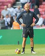 Assistenttræner Kristian Bach Bak (FC Midtjylland) under opvarmningen til kampen i 3F Superligaen mellem FC København og FC Midtjylland den 22. september 2019 i Telia Parken (Foto: Claus Birch / Ritzau Scanpix).