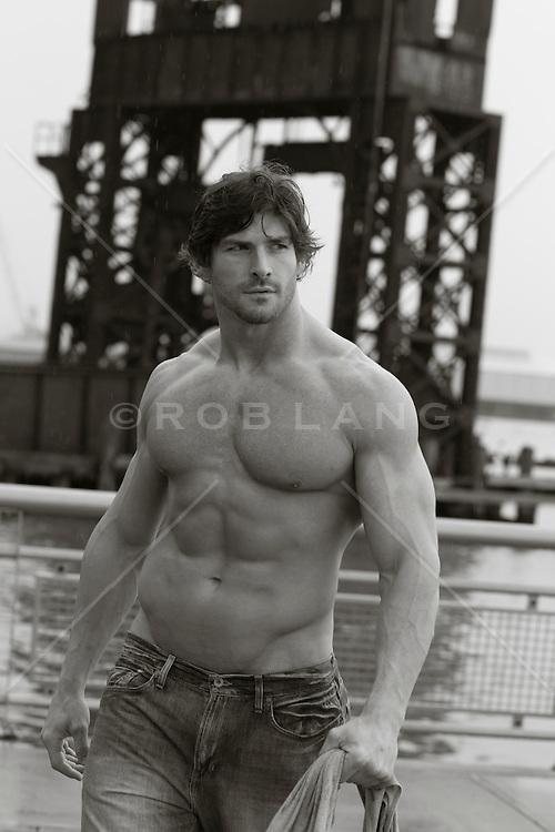 muscular man in New York City