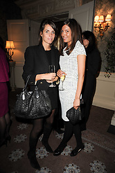 Left to right, MARINA HANBURY and AMANDA SHEPPARD at a party to celebrate Penguin's reissue of Nancy Mitford's 'Wigs on The Green' hosted by Tatler at Claridge's, Brook Street, London on 10th March 2010.