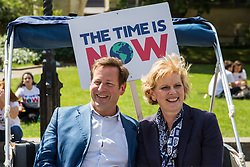 London, UK. 26 June, 2019. Ed Vaizey, Conservative MP for Didcot and Wantage, and Anna Soubry, Change UK MP for Broxtowe, meet climate change activists from their constituencies during a mass lobby of Parliament for the climate and environment.