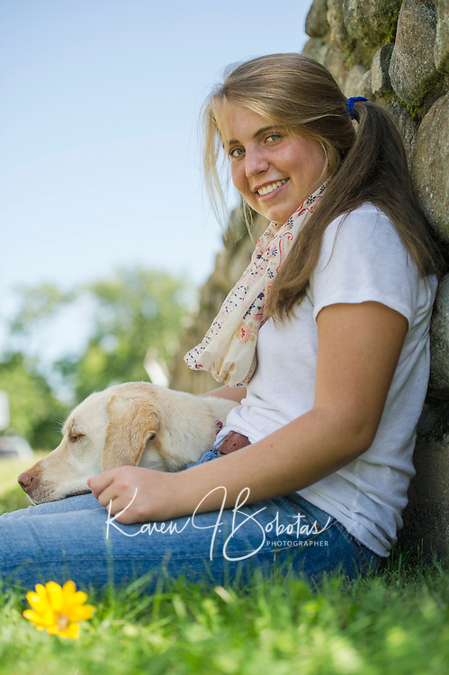 Czerwinski family and Sophie senior portrait session.  ©2014 Karen Bobotas Photographer