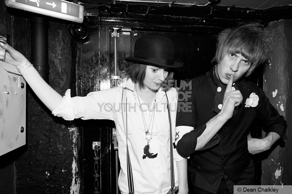 Johanna and Oliver von Blitzkrieg at the Junk Club, Southend, 2006.