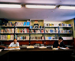 Galicia, Spain. Reading in Spanish prisons. The library of the Al Lama prison. ©Carmen Secanella
