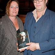 NLD/Amsterdam/20120309 - Boekpresentatie Een Krankzinnig Avontuur van Hans van Mierlo, Olivier van Mierlo met partner en boek