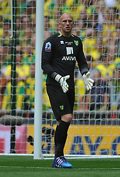John Ruddy Goalkeeper Norwich, Middlesbrough v Norwich, Sky Bet Championship, Play Off Final, Wembley Stadium, Monday  25th May 2015