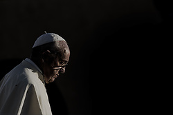 September 20, 2016 - Assisi, Umbria, Italy - Pope Francis leads a prayer with representatives of different religions inside the Basilica of St. Francis, in Assisi, Italy, Tuesday, Sept. 20, 2016. War refugees and leaders and representatives of several religions, including Christians, Jews, Muslims, Hindus and others, joined Pope Francis Tuesday in a day of prayer for peace in Assisi, the hometown of St. Francis, who preached tolerance and gentleness. (Credit Image: © Massimo Valicchia/NurPhoto via ZUMA Press)
