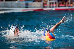 Andraz Verac of VKL Ljubljana Slovan during water polo match between VKL Ljubljana Slovan and AVK Triglav Kranj in 3rd Round of Final of Slovenian Water polo National Championship, on June 16, 2018 in Kodeljevo, Ljubljana, Slovenia. Photo by Urban Urbanc / Sportida