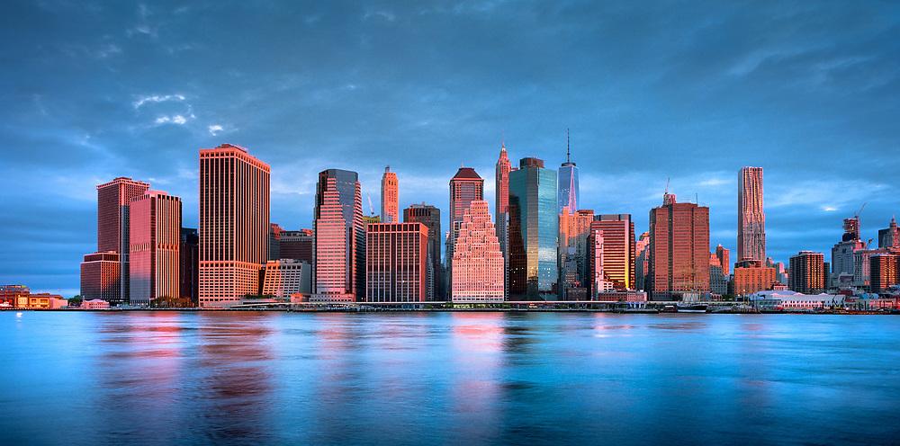 Sunrise over Lower Manhattan.