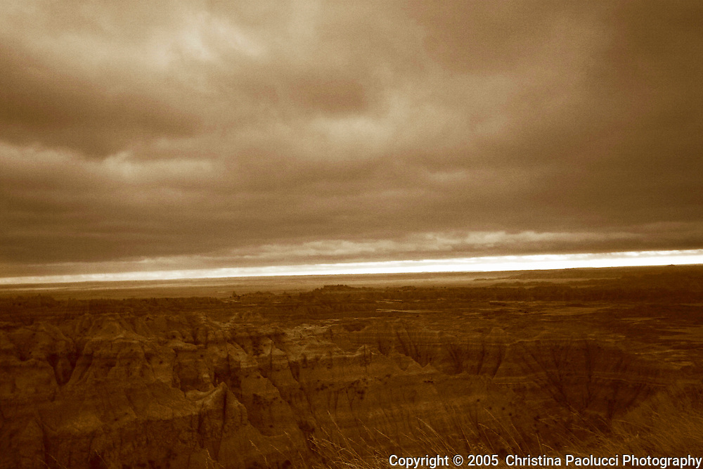 The Badlands in the Black Hills of  South Dakota October 6, 2005. (Christina Paolucci, photographer)