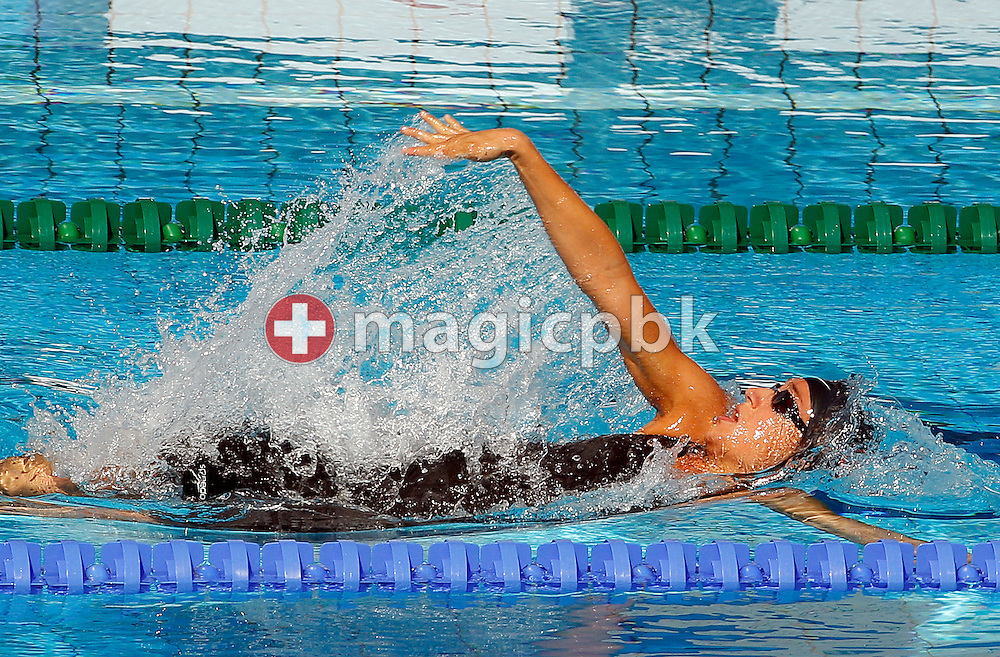 Ivana GABRILO of Switzerland competes in the women's 100m Backstroke Heats at the European Swimming Championship at the Hajos Alfred Swimming complex in Budapest, Hungary, Wednesday, Aug. 11, 2010. (Photo by Patrick B. Kraemer / MAGICPBK)