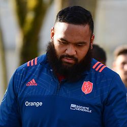 Uini Atonio of France during the training session of  the France rugby team at Centre National de Rugby on March 14, 2017 in Marcoussis, France. (Photo by Dave Winter/Icon Sport)