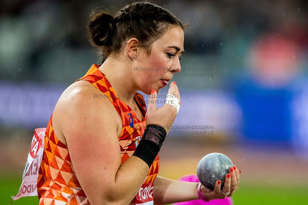09-08-2017 IAAF World Championships Athletics day 6, London<br /> Melissa Boekelman NED (kogelstoten) kan in de finale niet stunten en wordt elfde met een stoot van 17.73m