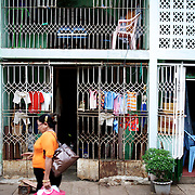 May 19, 2013 - Yangon, Myanmar: Clothing is seen drying in a residential neighbourhood in central Yangon. (Paulo Nunes dos Santos/Polaris)